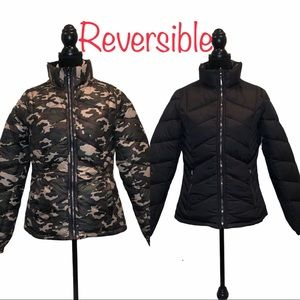 NWT Snobbish reversible puffer camo black jacket